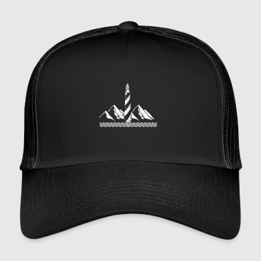 Phare de la mer Baltique Tower idée cadeau plage - Trucker Cap