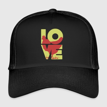 Cool Love Chicken T-shirt - Trucker Cap