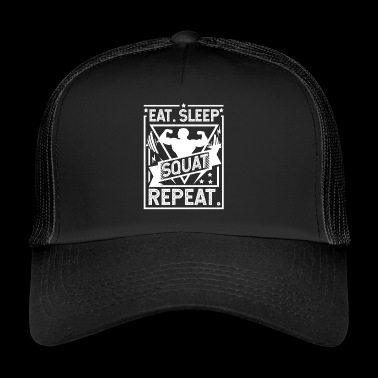 Spis Sleep Squat Repeat - Squat - Trucker Cap