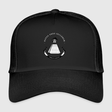 illiminati pyramid secret society eye rays Nerd - Trucker Cap