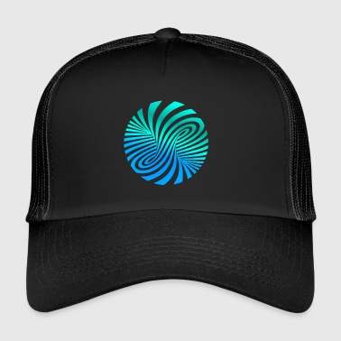 psychedelic Optik Illusion Türkis optical Art 60er - Trucker Cap