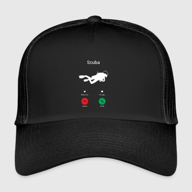 Scuba Diving Scuba Diving is calling! present - Trucker Cap