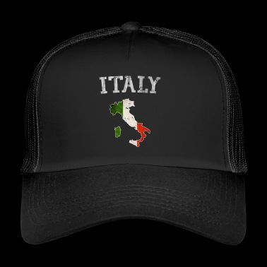 Vintage Italia Italien italienska flaggan land disposition - Trucker Cap