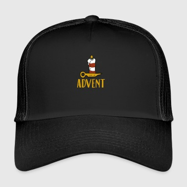 Advent One Candle Christmas Season Countdown Cool - Trucker Cap