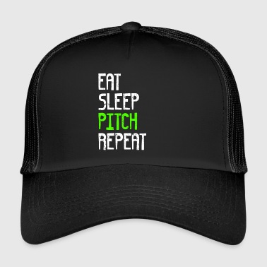 EAT SLEEP PITCH REPEAT - Trucker Cap
