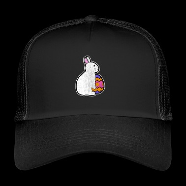 Easter Bunny with Easter Egg Happy Easter Gift Bunny - Trucker Cap