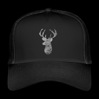 Deer Deer Head Fingerprint Wild Hunt Gift - Trucker Cap