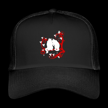Squirrels In Love On A Tree Funny Chipmunks Animal - Trucker Cap