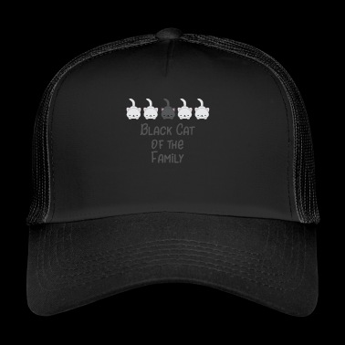 Black Cat - outsider - Cat - regalo - Trucker Cap