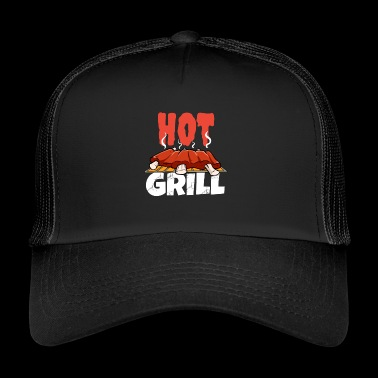 BBQ chaud barbecue barbecue Spareribs chef rôti - Trucker Cap