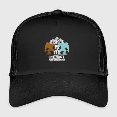 Bigfoot Vs Yeti Ultimate Throwdown Gift - Gorra de camionero