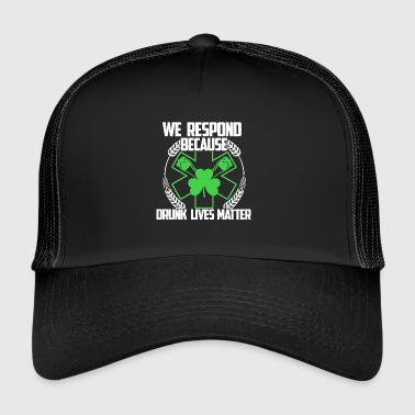 Responder Irish - Gift - Shirt - Trucker Cap
