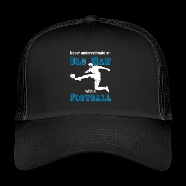 Old soccer player T-shirt soccer farewell - Trucker Cap