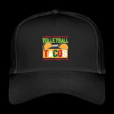 Lentopallo ja Tacos vintage beach volley - Trucker Cap