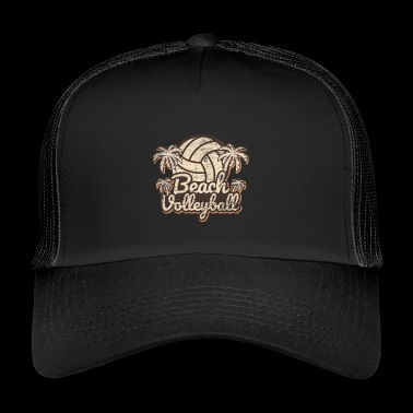 Beachvolleybal grunge - Trucker Cap
