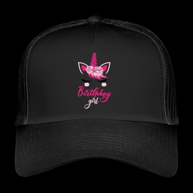 birthday girl unicorn birthday girl - Trucker Cap