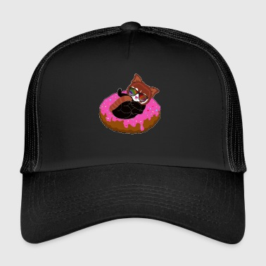 Red panda on donut cool air mattress summer - Trucker Cap