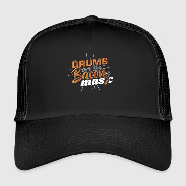 Drum Are The Bacon Of Music Drummer Tee Shirt Gift - Trucker Cap