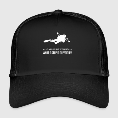 Diving - Diver - Scuba Diving - Funny - Trucker Cap