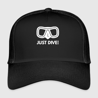 Diving - Diver - Scuba Diving - Diving goggles - Trucker Cap