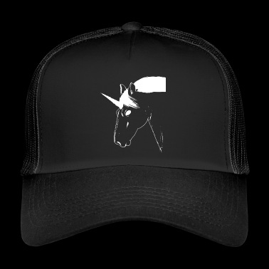 Unicorn white mythical creature - Trucker Cap
