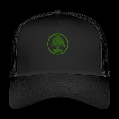 Bonsai Green Zen Japan Japanese art tree - Trucker Cap