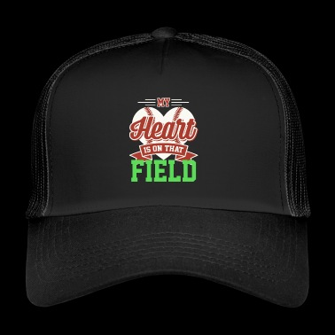 Baseball softball pitch heart mum gift - Trucker Cap
