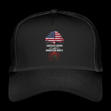 Marocko USA Afroamerikansk födelse Afrika nation - Trucker Cap