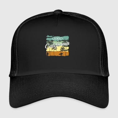 California surf sand sun sea gift - Trucker Cap