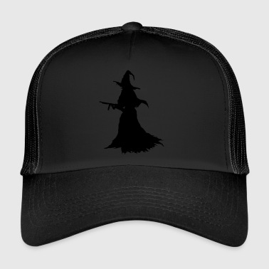 Witch with Assault Rifle / AK for Halloween - Trucker Cap