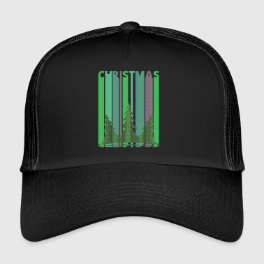 Retro Christmas Trees Gifts for family and friends - Trucker Cap