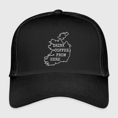 Café rétro vintage Coffee.Ireland.Irish café. - Trucker Cap