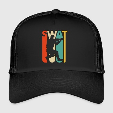 Vintage Retro Swat Team.CO19. Poliisi. Swat Officer - Trucker Cap