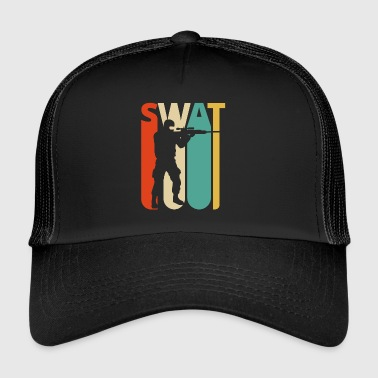 Vintage Retro Swat Team. CO19. Regalos de Swat Officer - Gorra de camionero