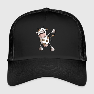 Funny Dab Dance Cow - Dabbing Cow - Trucker Cap