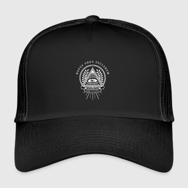 Illuminati all seeing eye pyramid secret society - Trucker Cap