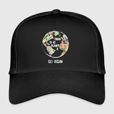 Er is geen planeet B, Go Vegan! - Trucker Cap