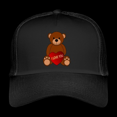 bamse teddy baer grizzly bjørn Black Bear - Trucker Cap