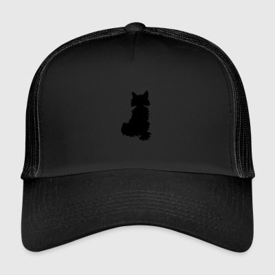 Fox silhouette black and white - Trucker Cap