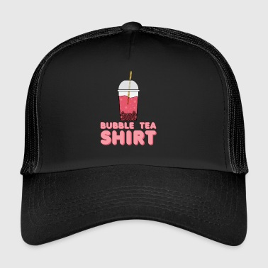 Tea Shirt -  - T-Shirt with Bubble Tea - Trucker Cap