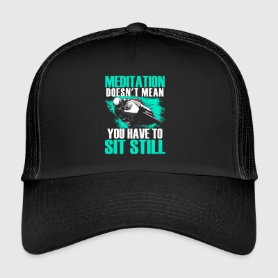 Superbike meditation Motorcycle Superbike - Trucker Cap