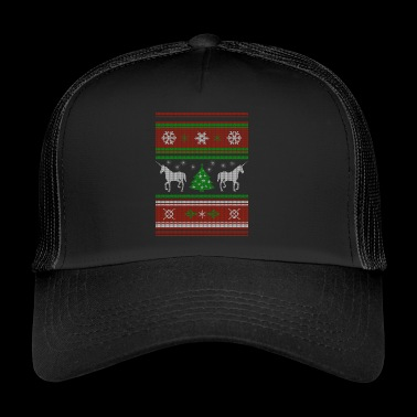 Christmas CHRISTMAS SWEATER unicorn - Trucker Cap