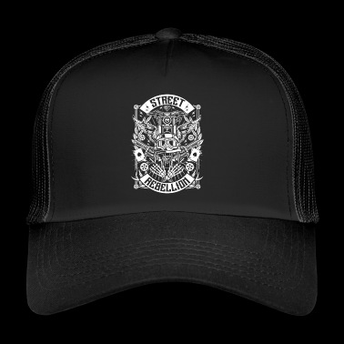 Motorcycle overhemd - Straat Rebellion (wit) - Trucker Cap