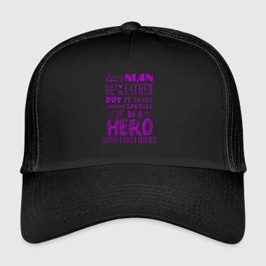 Pancreatic Cancer Awareness: Dad is a Hero! - Trucker Cap