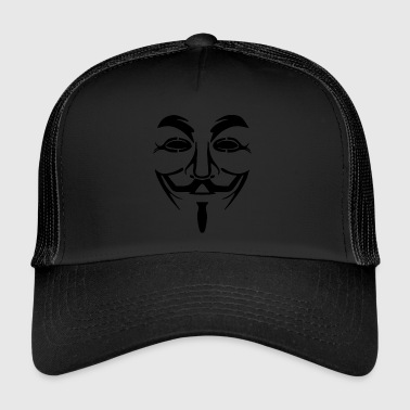 Vendetta mask - Guy Fawkes (Anonymous) - Trucker Cap