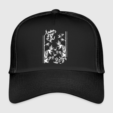 floral bamboo wite - Trucker Cap