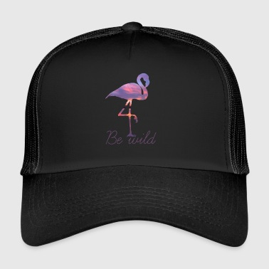 FLAMINGO BE WILD SUMMER SUNSET GIFT - Trucker Cap