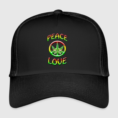 Peace and Love - Trucker Cap