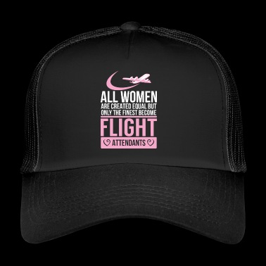 Flight attendant - flight attendant - stewardess - - Trucker Cap