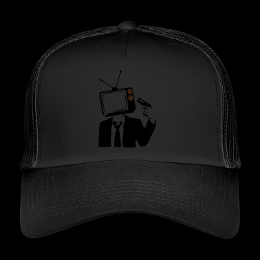 TELEVISION IS POOP - Trucker Cap
